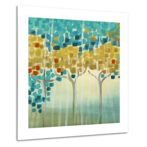 Forest Mosaic I-Erica J^ Vess-Metal Print