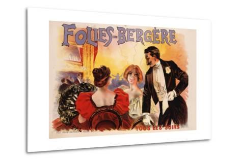 Folies-Bergere Poster--Metal Print
