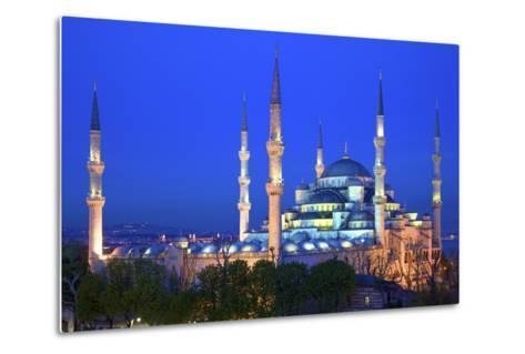 Blue Mosque (Sultan Ahmet Camii), UNESCO World Heritage Site, at Dusk, Istanbul, Turkey, Europe-Neil Farrin-Metal Print