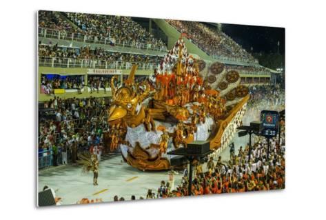 Samba Parade at the Carnival in Rio De Janeiro, Brazil, South America-Michael Runkel-Metal Print