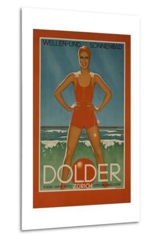 Dolder Grand Hotel Zurich Switzerland Travel Poster Wellen-Und Sonnenbad--Metal Print