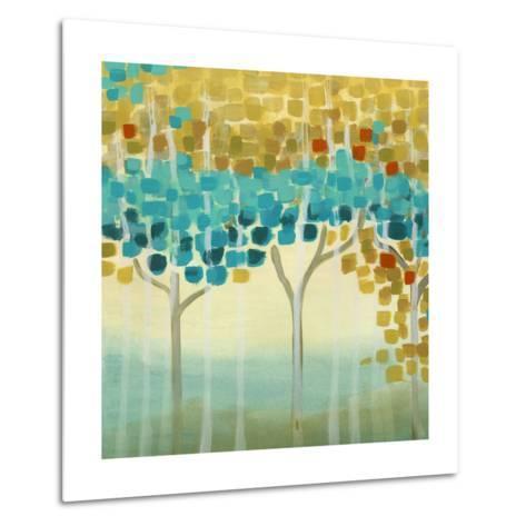 Forest Mosaic II-Erica J^ Vess-Metal Print