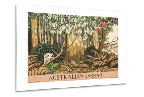 Australian Jarrah Travel Poster--Metal Print