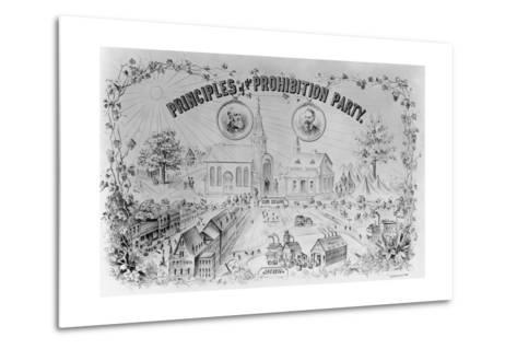 """American Lithograph """"Principles of the Prohibition Party""""--Metal Print"""
