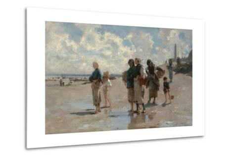 Fishing for Oysters at Cancale-John Singer Sargent-Metal Print