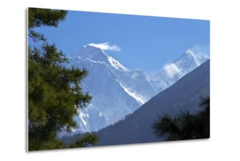 View to Mount Everest and Lhotse from the Trail Near Namche Bazaar, Nepal, Himalayas, Asia-Peter Barritt-Metal Print