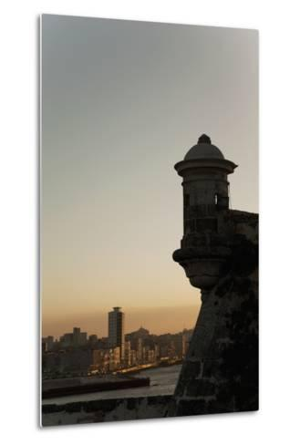 El Morro Fortress at Sunset, Havana, Cuba, West Indies, Central America-Angelo Cavalli-Metal Print