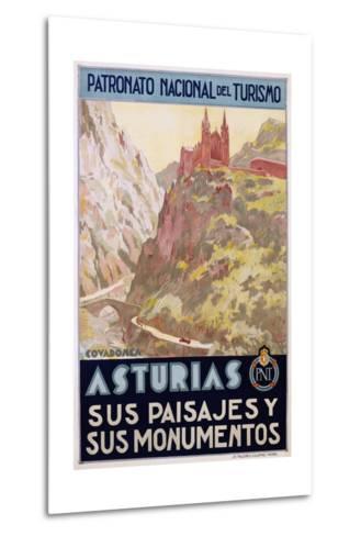 Asturias Sus Paisa Jes Y Sus Monumentos Poster--Metal Print