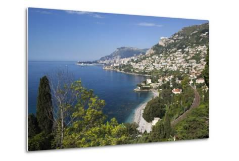 View Along Roquebrune Bay to Monte Carlo-Stuart Black-Metal Print
