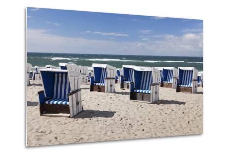 Beach Chairs on the Beach of Westerland-Markus Lange-Metal Print