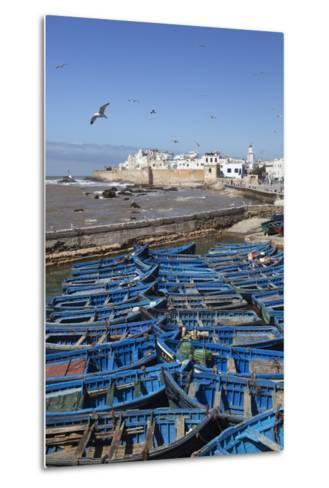 View over the Fishing Harbour to the Ramparts and Medina-Stuart Black-Metal Print