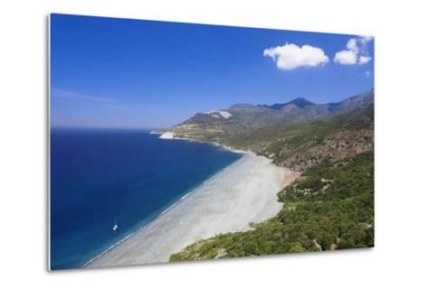 Beach of Nonza, Corsica, France, Mediterranean, Europe-Markus Lange-Metal Print