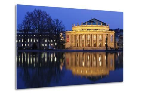 Staatstheater (Stuttgart Theatre and Opera House) at Night-Markus Lange-Metal Print