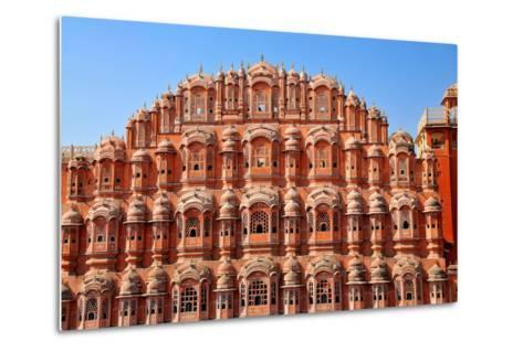 Hawa Mahal (Palace of Winds), Built in 1799, Jaipur, Rajasthan, India, Asia-Godong-Metal Print