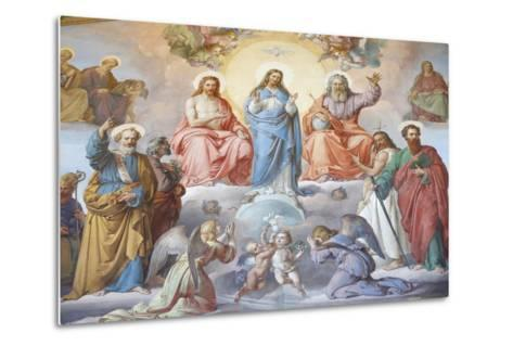 God, Jesus and Mary, Vatican Museum, Vatican, Rome, Lazio, Italy, Europe-Godong-Metal Print