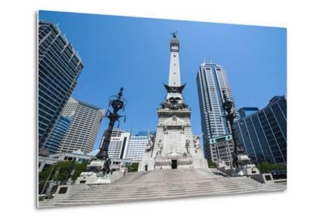 Soldiers' and Sailors' Monument, Indianapolis, Indiana, United States of America, North America-Michael Runkel-Metal Print