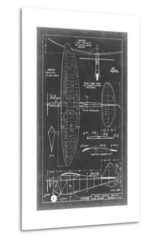 Aeronautic Blueprint I-Vision Studio-Metal Print
