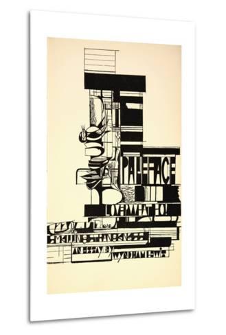 Design for Paleface-Wyndham Lewis-Metal Print