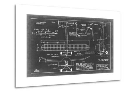 Aeronautic Blueprint VII-Vision Studio-Metal Print