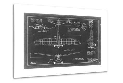 Aeronautic Blueprint VI-Vision Studio-Metal Print