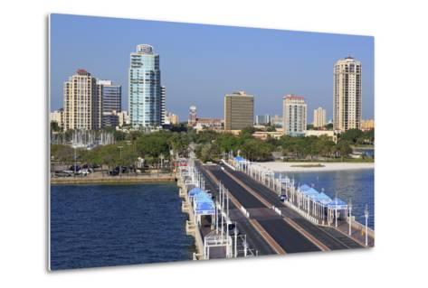 St. Petersburg Skyline, Tampa, Florida, United States of America, North America-Richard Cummins-Metal Print