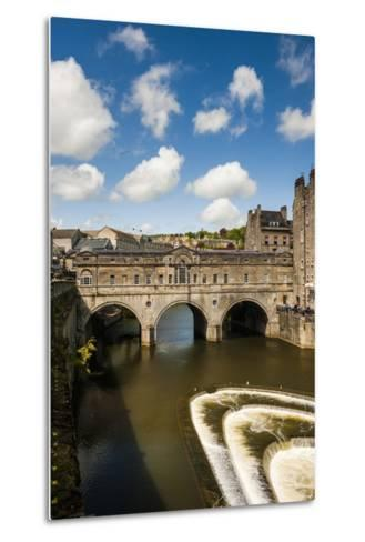 Pulteney Bridge over the River Avon, Bath, Avon and Somerset, England, United Kingdom, Europe-Matthew Williams-Ellis-Metal Print