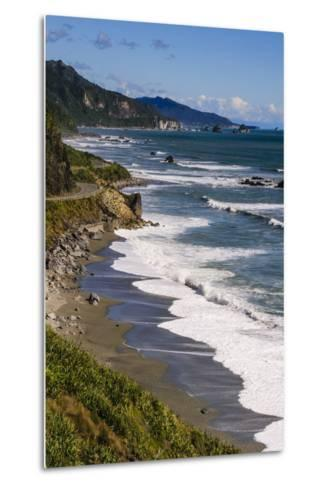 The Untouched West Coast of South Island Between Greymouth and Westport, West Coast, South Island-Michael Runkel-Metal Print
