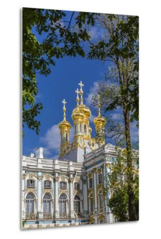 Exterior View of the Catherine Palace, Tsarskoe Selo, St. Petersburg, Russia, Europe-Michael Nolan-Metal Print
