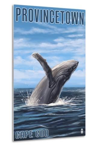 Provincetown, Massachusetts - Humback Whale-Lantern Press-Metal Print