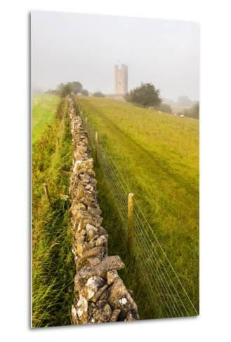 Misty Sunrise at Broadway Tower, a National Trust Property at Broadway, the Cotswolds-Matthew Williams-Ellis-Metal Print