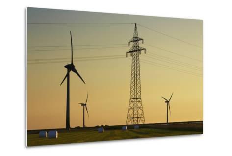 Wind Energy Plant and Power Pole-Frank Krahmer-Metal Print