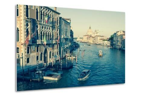 The Grand Canal and the Domed Santa Maria Della Salute, Venice, Veneto, Italy, Europe-Amanda Hall-Metal Print