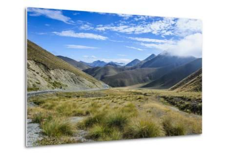 Beautiful Scenery on the Highway around the Lindis Pass, Otago, South Island, New Zealand, Pacific-Michael Runkel-Metal Print