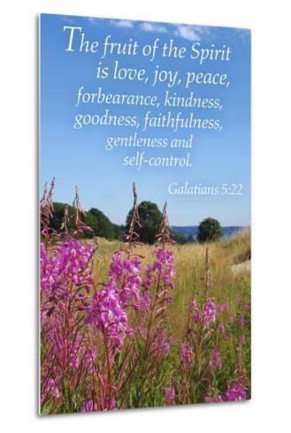 Galatians 5:22 - Inspirational-Lantern Press-Metal Print