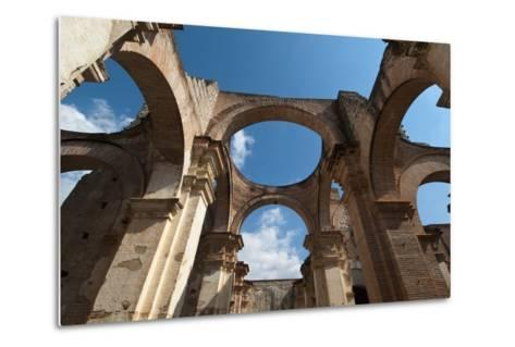 Arches in Old Cathedral Ruins in Antigua in Guatemala-Sergio Pitamitz-Metal Print