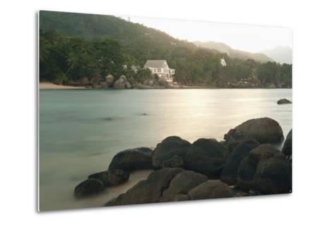 Baie Beau Vallon, Mahe, Seychelles, Indian Ocean Islands-Guido Cozzi-Metal Print
