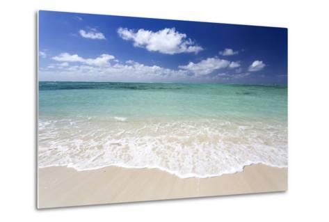 Idyllic Beach Scene with Blue Sky, Aquamarine Sea and Soft Sand, Ile Aux Cerfs-Lee Frost-Metal Print