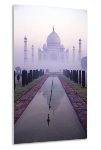 Taj Mahal at Dawn, UNESCO World Heritage Site, Agra, Uttar Pradesh, India, Asia-Peter Barritt-Metal Print