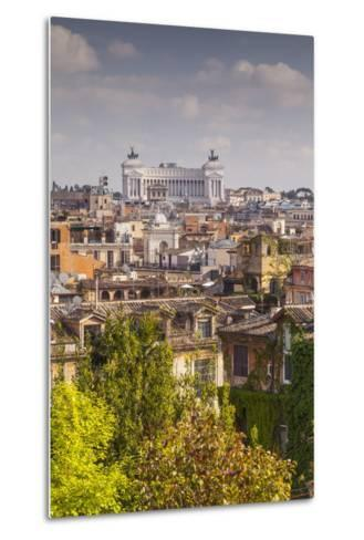The Rooftops of Rome with Il Vittoriano-Julian Elliott-Metal Print