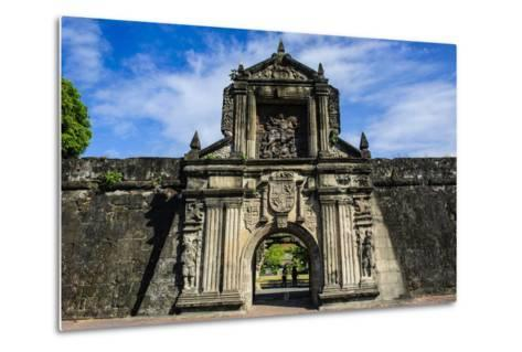 Entrance to the Old Fort Santiago, Intramuros, Manila, Luzon, Philippines, Southeast Asia, Asia-Michael Runkel-Metal Print