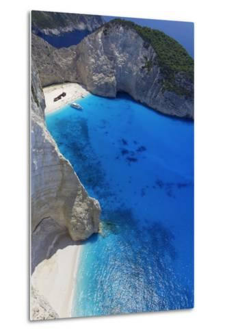 Navagio Beach and Shipwreck at Smugglers Cove on the Coast of Zakynthos-Sakis Papadopoulos-Metal Print