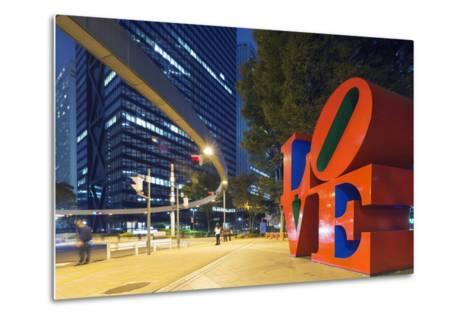 Love Sculpture by Robert Indiana, Shinjuku, Tokyo, Honshu, Japan, Asia-Christian Kober-Metal Print