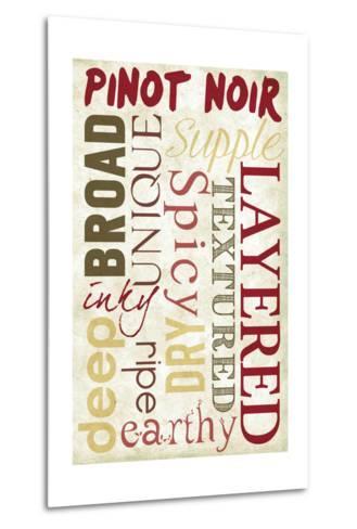 Pinot Noir Typography-Lantern Press-Metal Print