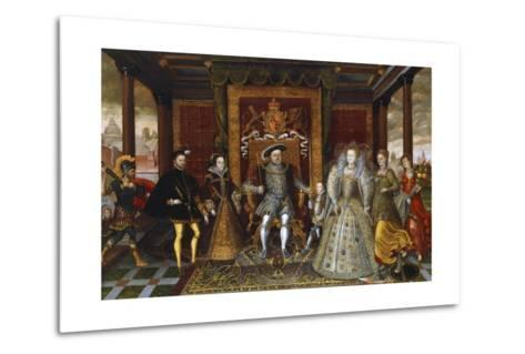 An Allegory of the Tudor Succession: the Family of Henry VII--Metal Print