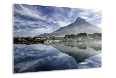 Lenticular Cloud Above Lion's Head on Signal Hill Reflected in Ocean, Camp's Bay, Cape Town-Kimberly Walker-Metal Print