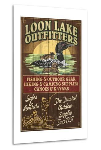Loon Outfitters - Vintage Sign-Lantern Press-Metal Print