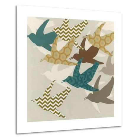 Patterned Flock II-Erica J^ Vess-Metal Print