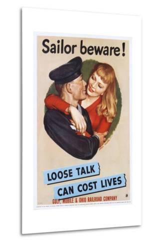 Sailor Beware! Poster-John Falter-Metal Print
