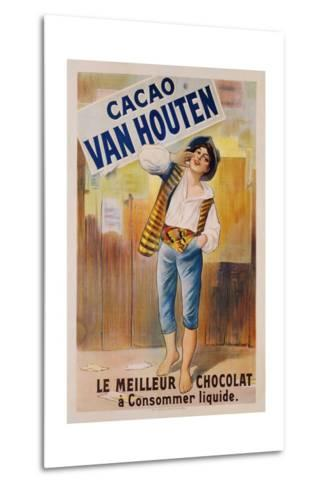 Circa 1900 French Poster for Cacao Van Houten--Metal Print