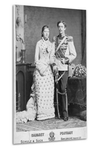 King of Sweden and His Wife--Metal Print